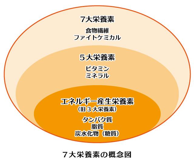 7大栄養素の概念図