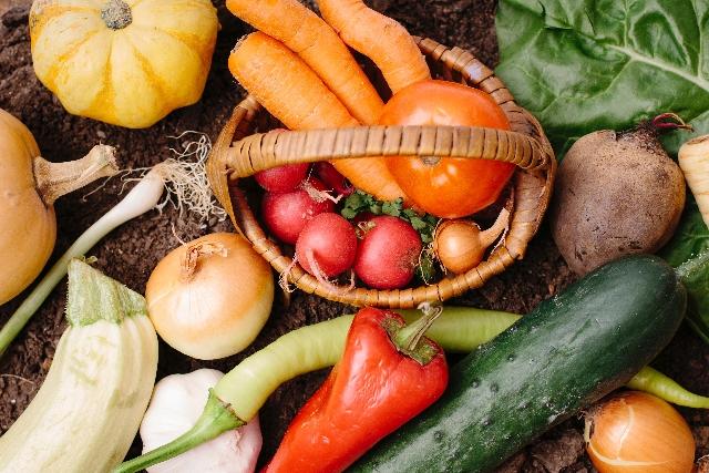 緑黄色野菜に含まれるベータカロテン